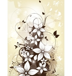 Abstract floral spring background with flowers and vector image