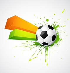 abstract style football design vector image