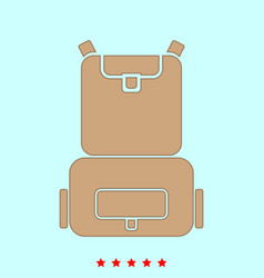 backpack it is icon vector image vector image