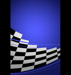 blue racing background vector image