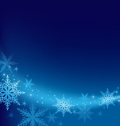 Blue Xmas Background vector image vector image