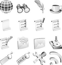 Bw icon set vector image
