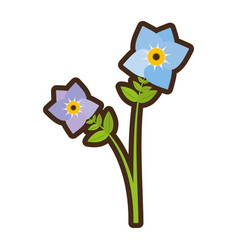 cartoon pansy flower plant nature vector image