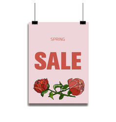 Classical floral sale card vector