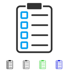 Examination list flat icon vector