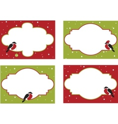 four frames of christmas cards vector image vector image