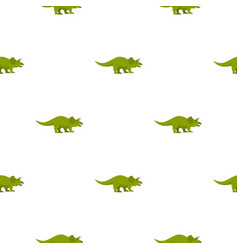 Green styracosaurus dinosaur pattern seamless vector