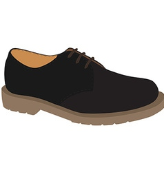 Grey shoe vector