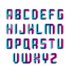 Impossible shape font vector