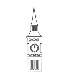 London big ben england design vector
