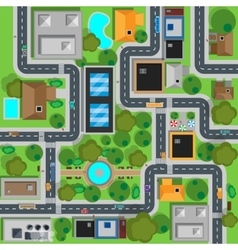 Map of city top view design flat vector