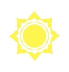 Mechanical logo yellow sun vector