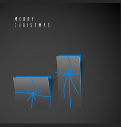 Minimalistic merry christmas card vector