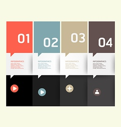 Modern design template numbered banners vector