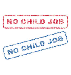 No child job textile stamps vector