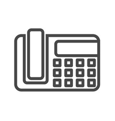 Office phone thin line icon vector