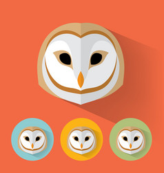 owl portrait with flat design vector image