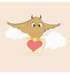 Owl with a letter vector image vector image