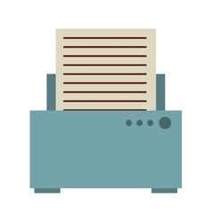 paper printing isolated icon design vector image