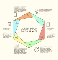 Polygonal infographic diagram vector image vector image