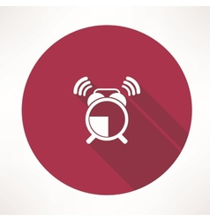 Ringing alarm clock icon vector