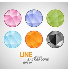 Set abstract circle icon Triangle design vector image