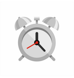 steel polished alarm clock vector image vector image