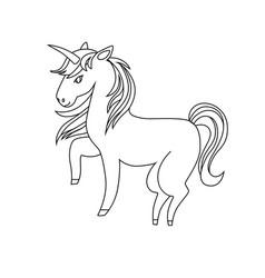unicorn icon character 07 vector image