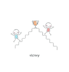 Victory vector image vector image