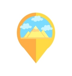 On-line map marker with pyramids of egypt vector