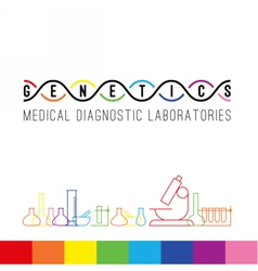 Genetics logo white vector