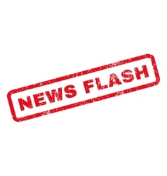 News Flash Rubber Stamp vector image
