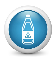 Hazardous bottle glossy icon vector