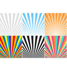 Collection of abstract colorful striped vector