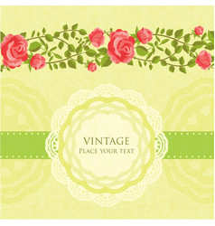 Floral retro card vector