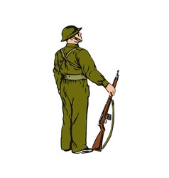 Soldier on guard vector