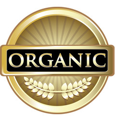 Orgnic gold label vector