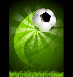 grunge soccer ball background vector image