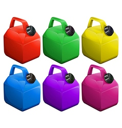 Colorful gas containers vector