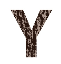 Bark letter y vector