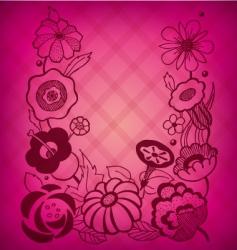 magenta floral background vector image