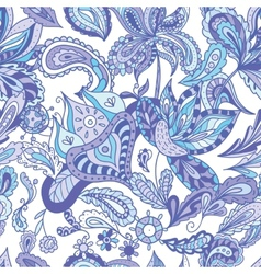 Blue indian pattern vector
