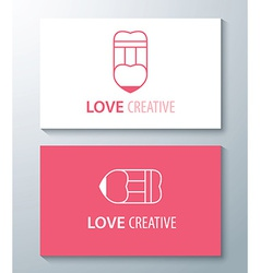 Love creative vector