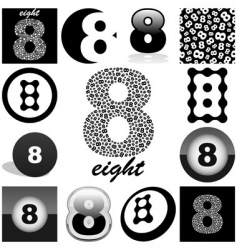 eight vector image
