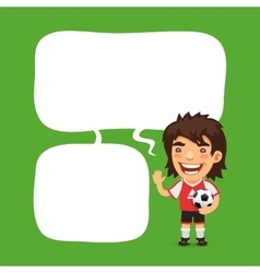 Soccer player speech bubble vector