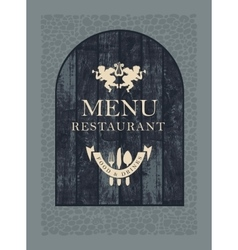 Restaurant menu on wooden planks vector