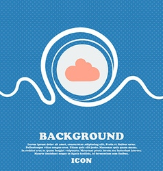 Cloud sign icon data storage symbol blue and white vector