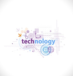 Technology futuristic digital template for tech vector