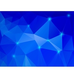 Abstract blue crystal background vector image vector image