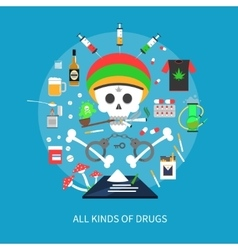 All Kinds Of Drugs Concept vector image vector image